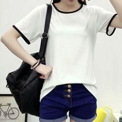 Teemaniac - Piped Short-Sleeve T-shirt