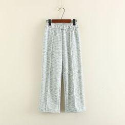 Mushi - Band Waist Wide Leg Pants