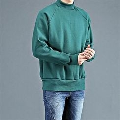 THE COVER - Mock-Neck Raglan-Sleeve Pullover