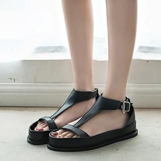 SouthBay Shoes - T-Strap Platform Sandals