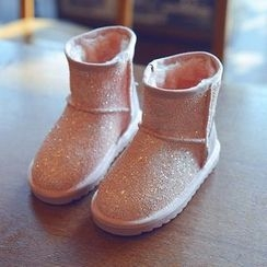 BOOM Kids - 小童亮面短筒雪靴