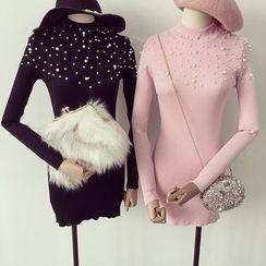 Honeydew - 綴飾針織連衣裙