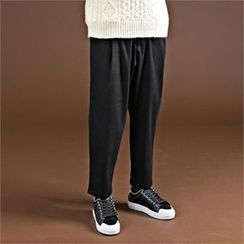 THE COVER - Pleated-Front Tapered Pants