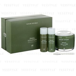 Nature Republic - Snail Solution Cream Special Set: Cream 55ml + Booster 31ml + Emulsion 31ml