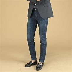 THE COVER - Paint-Splatter Washed Jeans