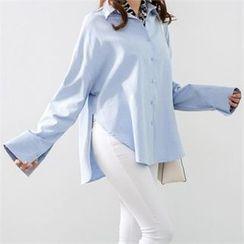 PEPER - Drop-Shoulder Slit-Side Shirt