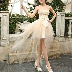 Bridal Workshop - 无带蝴蝶结 A 字礼服裙