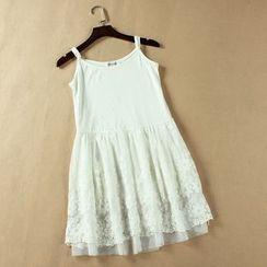 Lacyland - 刺绣吊带裙
