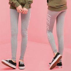 chuu - Lettering Yoga Pants