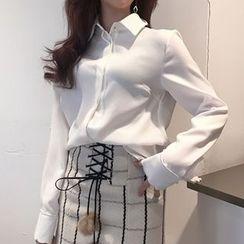 Queen Bee - 纯色长袖衬衫