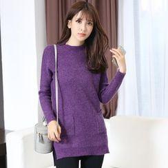 Hazie - Slit-Side Long Sweater