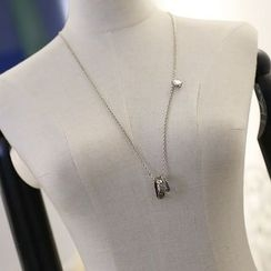 Love Generation - Double Ring Necklace