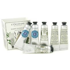 L'Occitane - Happy Hands Kit: 2x Shea Butter 30ml + 2x Lavender 30ml + 2x Cooling Hand Gel 30ml