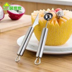 Home Simply - Stainless Steel Fruit Scoop / Carving Knife