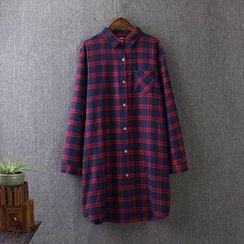 Blue Rose - Long Check Shirt