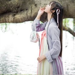 Jade Dragon - Long Top / Strapless Maxi Dress / Set