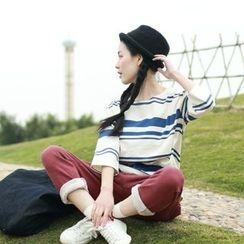 Hanayoshi - 3/4-Sleeve Striped Top