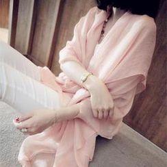 夢夢家女裝 - 桑蠶絲大圍巾