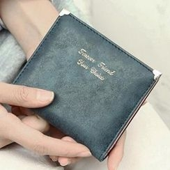 SUOAI - Faux-Leather Lettering Wallet