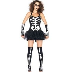 Gembeads - Skeleton Halloween Party Costume