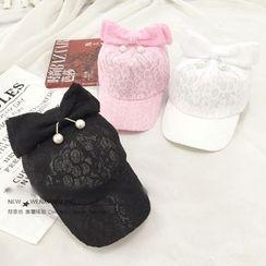 FROME - 蝴蝶結蕾絲帽
