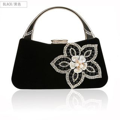 Glam Cham - Flower Rhinestone Handbag
