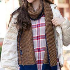 真享 - 配色羊毛围巾