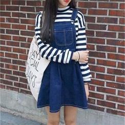 Everose - Denim Jumper Skirt
