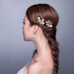 Suaylla - Pearl Leaves Hair Pin