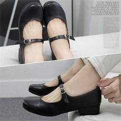 Reneve - Round-Toe Mary Jane Loafers