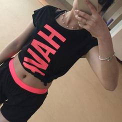 Lissom - Short-Sleeve Lettering Sport T-Shirt