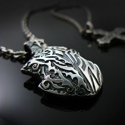 Sterlingworth - Embossed Pendant Sterling Silver Necklace