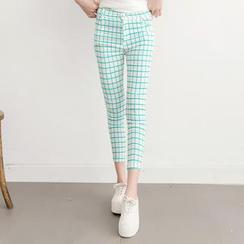 Tokyo Fashion - Plaid Cropped Skinny Pants