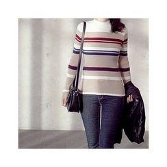 MASoeur - Crew-Neck Stripe Knit Top