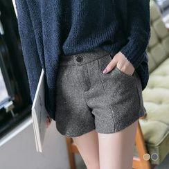 OrangeBear - Matellic Tweed Pleated Shorts