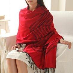 羚羊早安 - 流蘇民族風圍巾