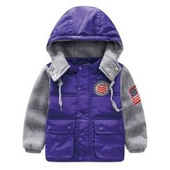 Endymion - Kids Color Panel Hooded Padded Jacket
