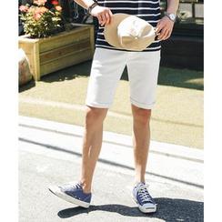 MEOSIDDA - Flat-Front Shorts