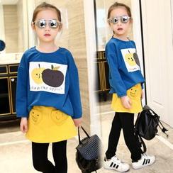 Pegasus - 小童套装: 印花套衫 + 仿两件内搭裤