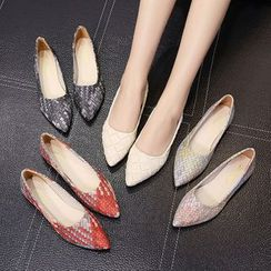 Yoflap - Woven Pointy Flats