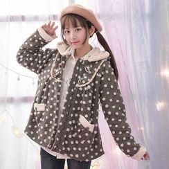 Moriville - Dotted Hooded Jacket