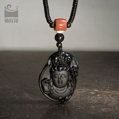Zeno - Engraved Stone Necklace