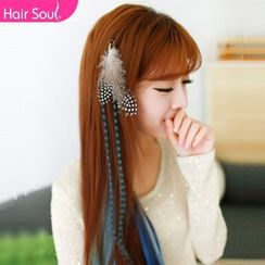 hairsoul - Hair Extension with Feather - Straight