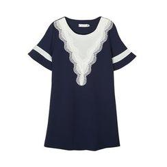 Flore - Short-Sleeve Crochet-Trim Top