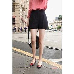CHERRYKOKO - Zip-Front Shorts