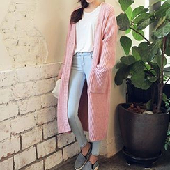 FR - Ribbed Long Cardigan