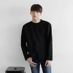 Seoul Homme - Crew-Neck Colored T-Shirt