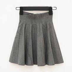 Polaris - 高腰百褶短裙
