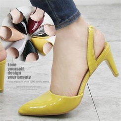 Reneve - Pointy-Toe Slingback Patent Pumps