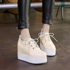 Shoes Galore - Hidden Wedge Platform Sneakers